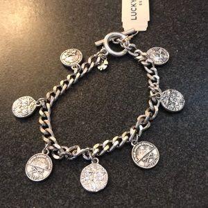 NEW Lucky Brand coin charm bracelet
